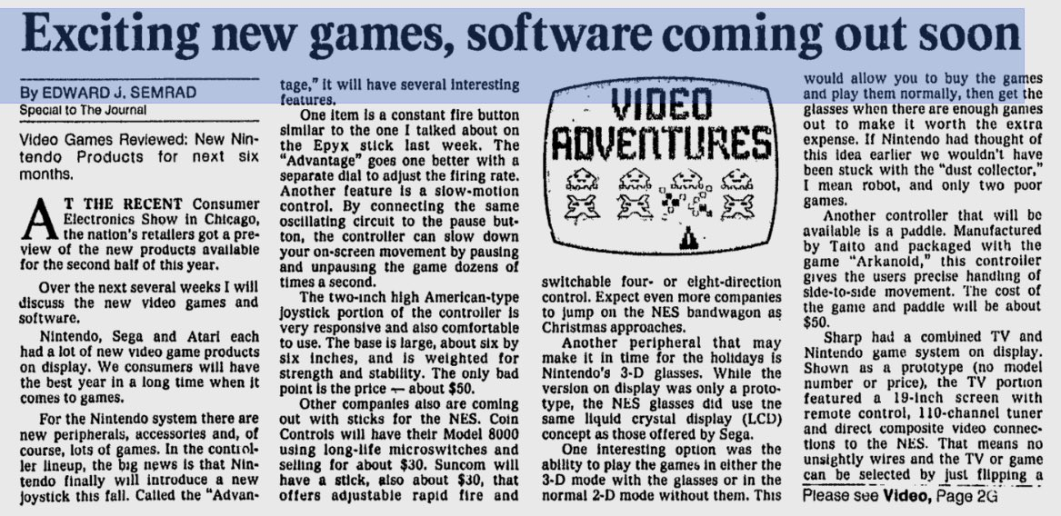 Summer CES 1987 - Ed Semrad - Milwaukee Journal June 6, 1987