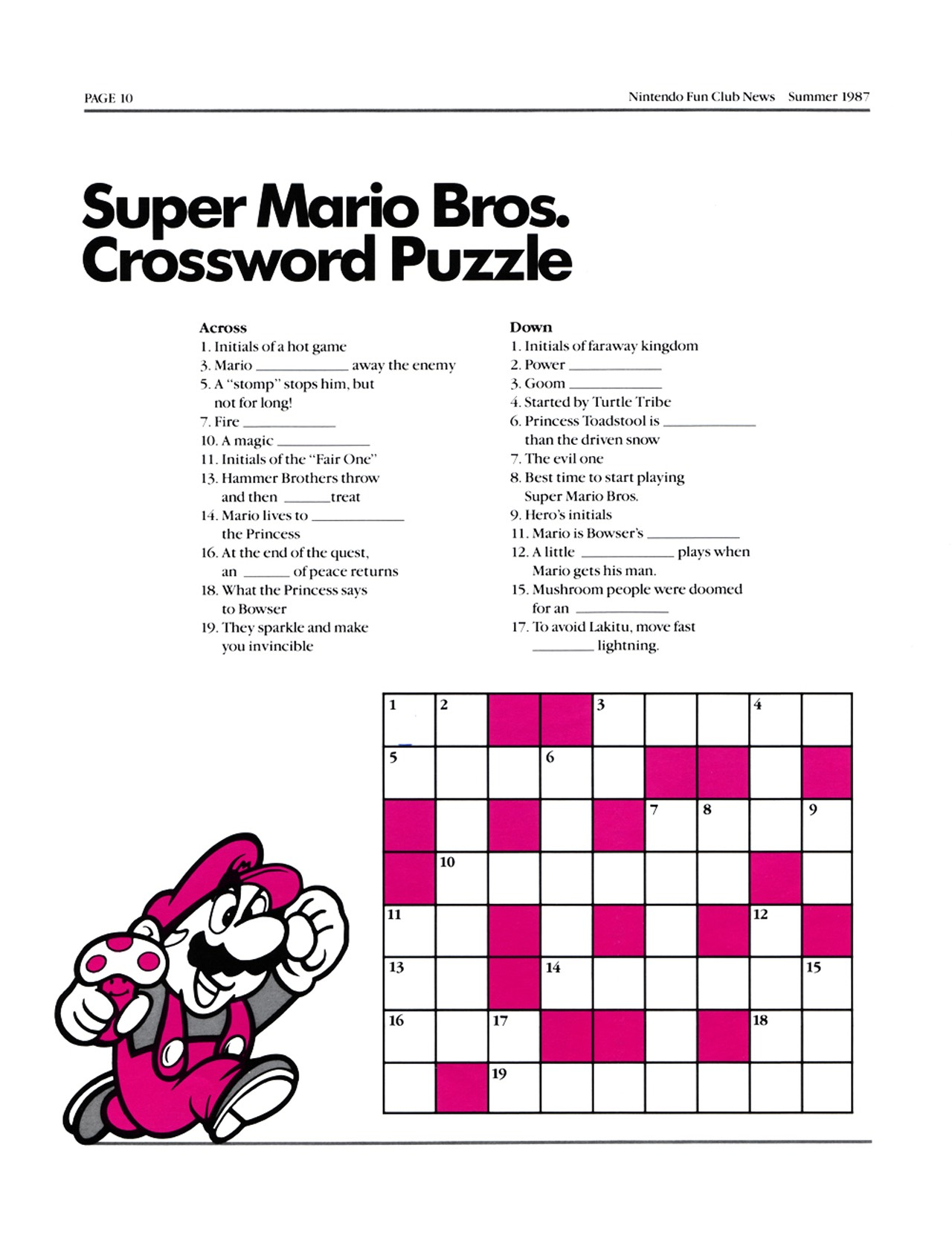Nintendo Fun Club News - Summer 1987 - p10