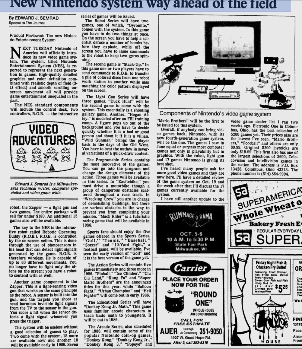 Milwaukee Journal 10-5-1985