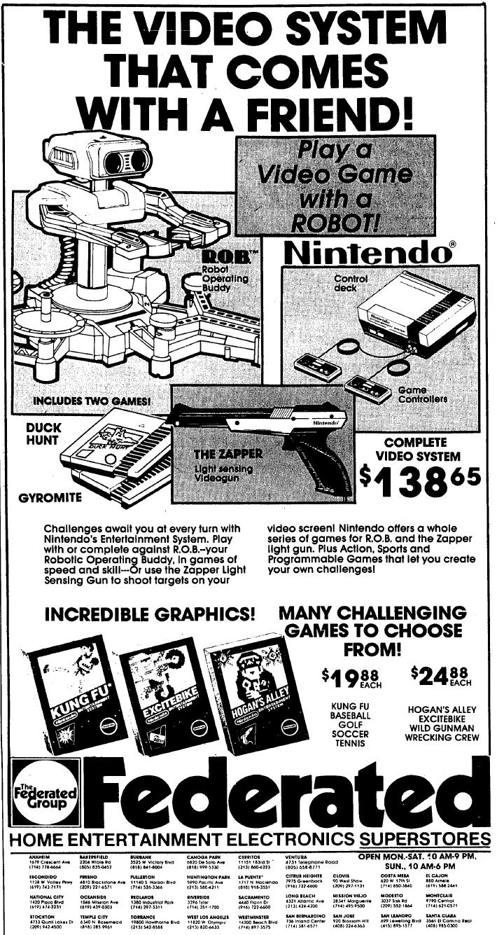 NES Ad - Federated - 03-14-1986 - Credit Frank Cifaldi