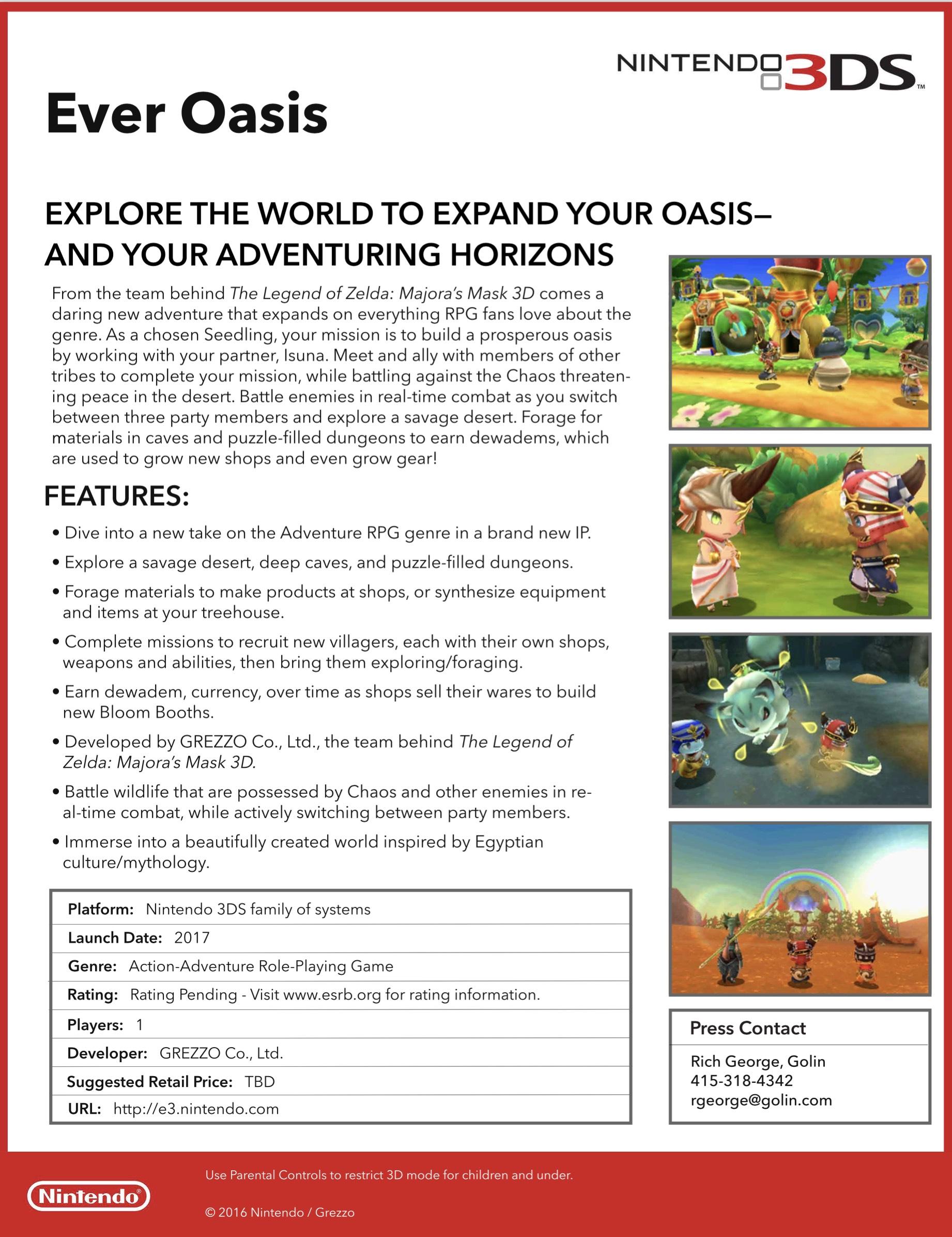 Easy Oasis Fact Sheet