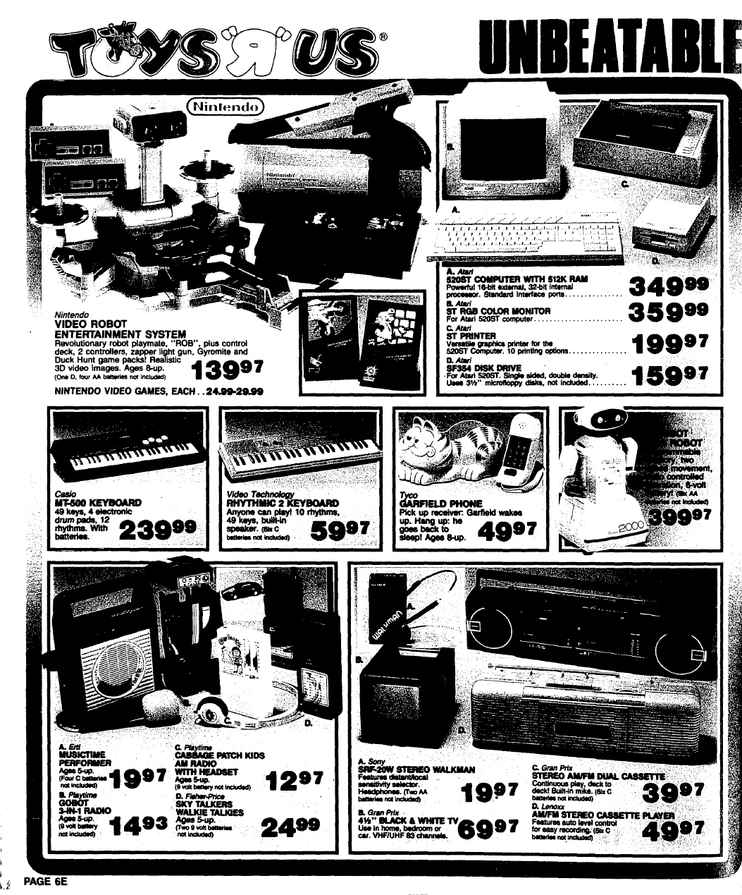 NES Ad - Toys R Us - 11-06-1986- Wisconsin State Journal - Credit Frank Cifaldi