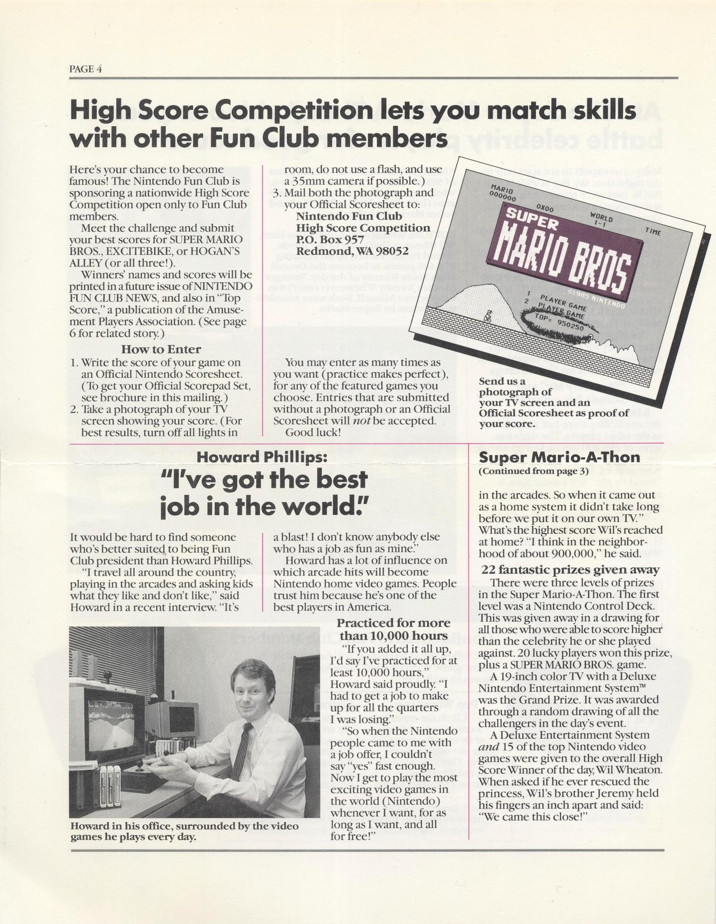 Nintendo Fun Club News - Winter 1987- Page 4