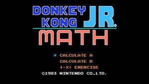 Donkey Kong Jr. Math (NES) Game Hub