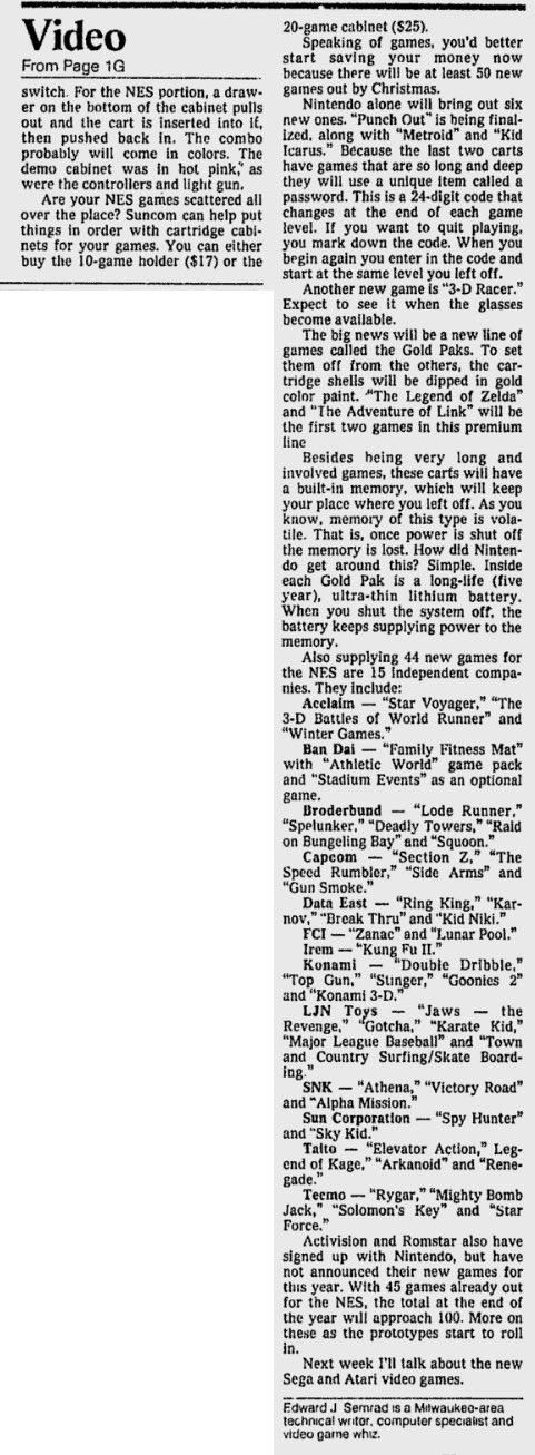 Summer CES 1987 - Ed Semrad - Milwaukee Journal June 6, 1987-2