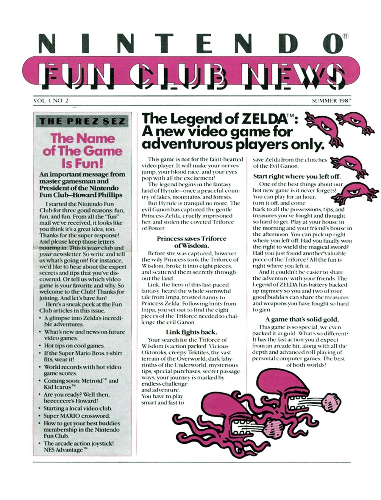 Nintendo Fun Club News - Summer 1987 - p1