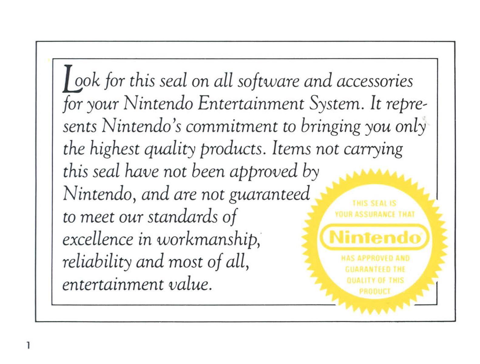 The Legend of Zelda Instruction Booklet - 1