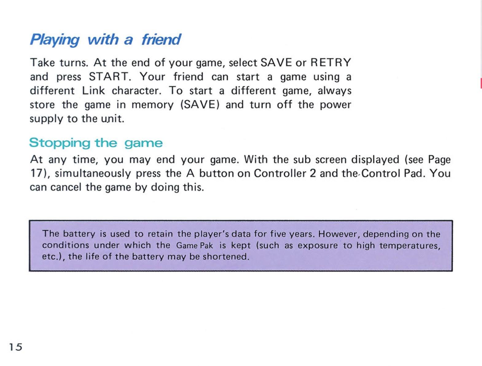The Legend of Zelda Instruction Booklet - 15