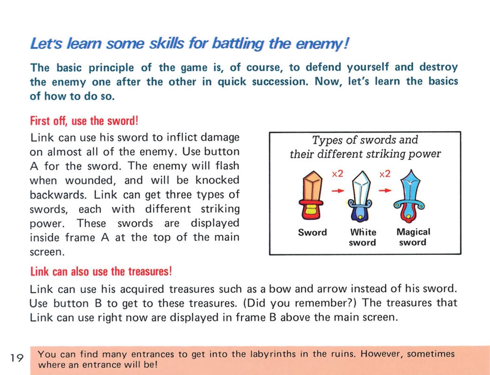 The Legend of Zelda Instruction Booklet - 19