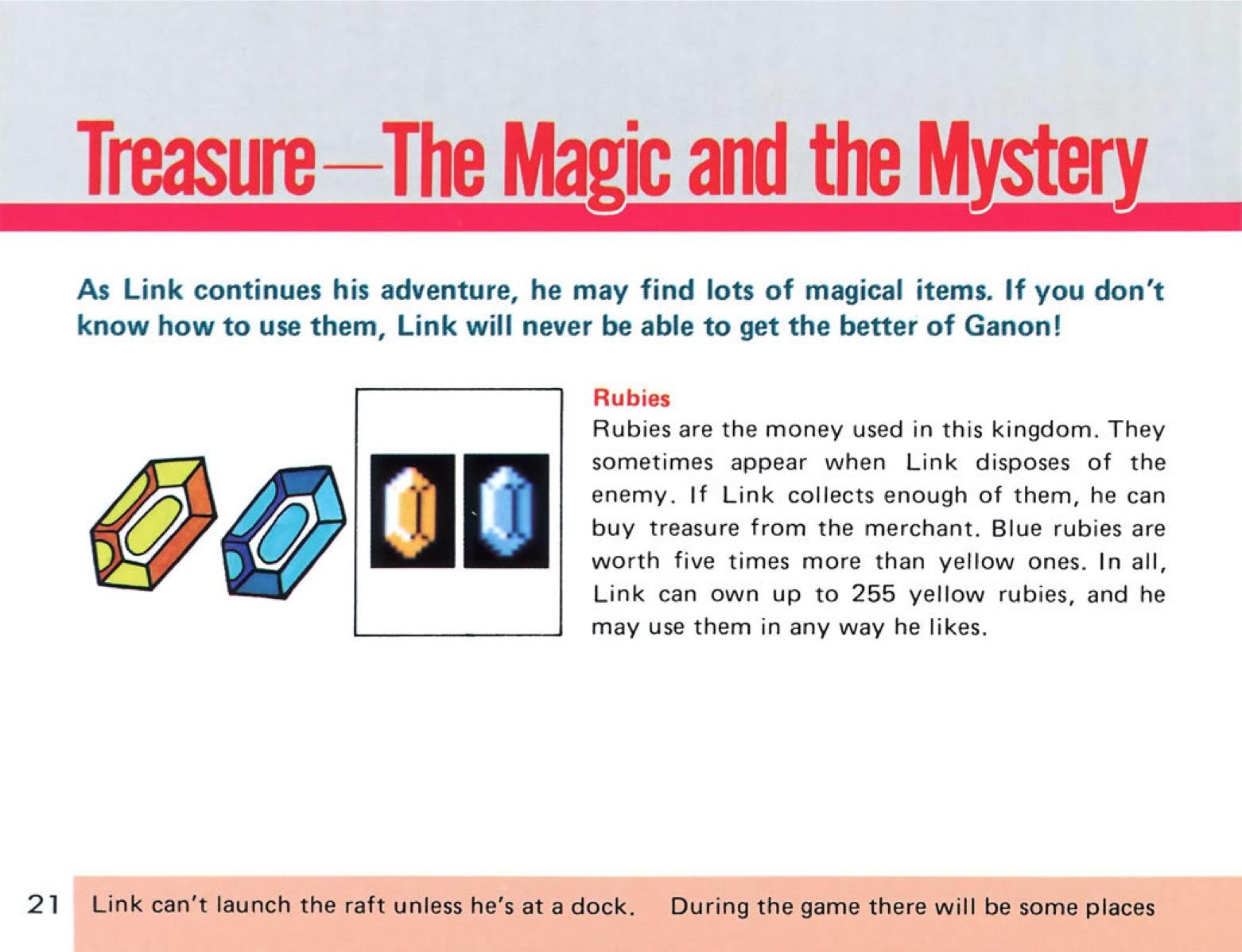 The Legend of Zelda Instruction Booklet - 21