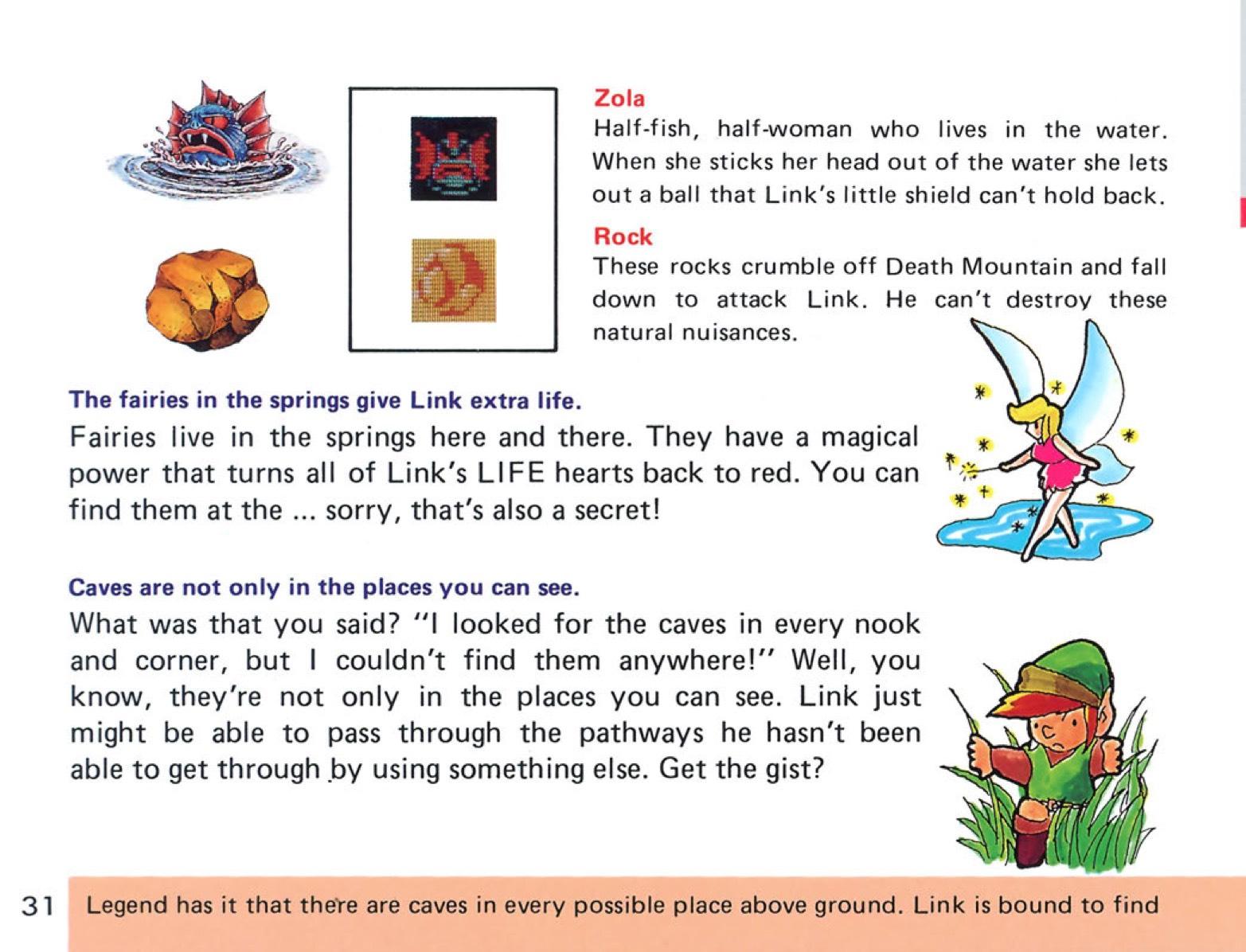 The Legend of Zelda Instruction Booklet - 31