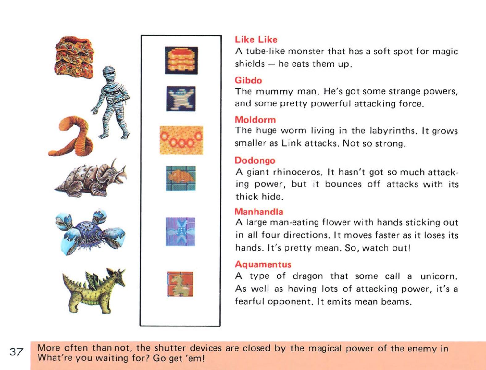 The Legend of Zelda Instruction Booklet - 37
