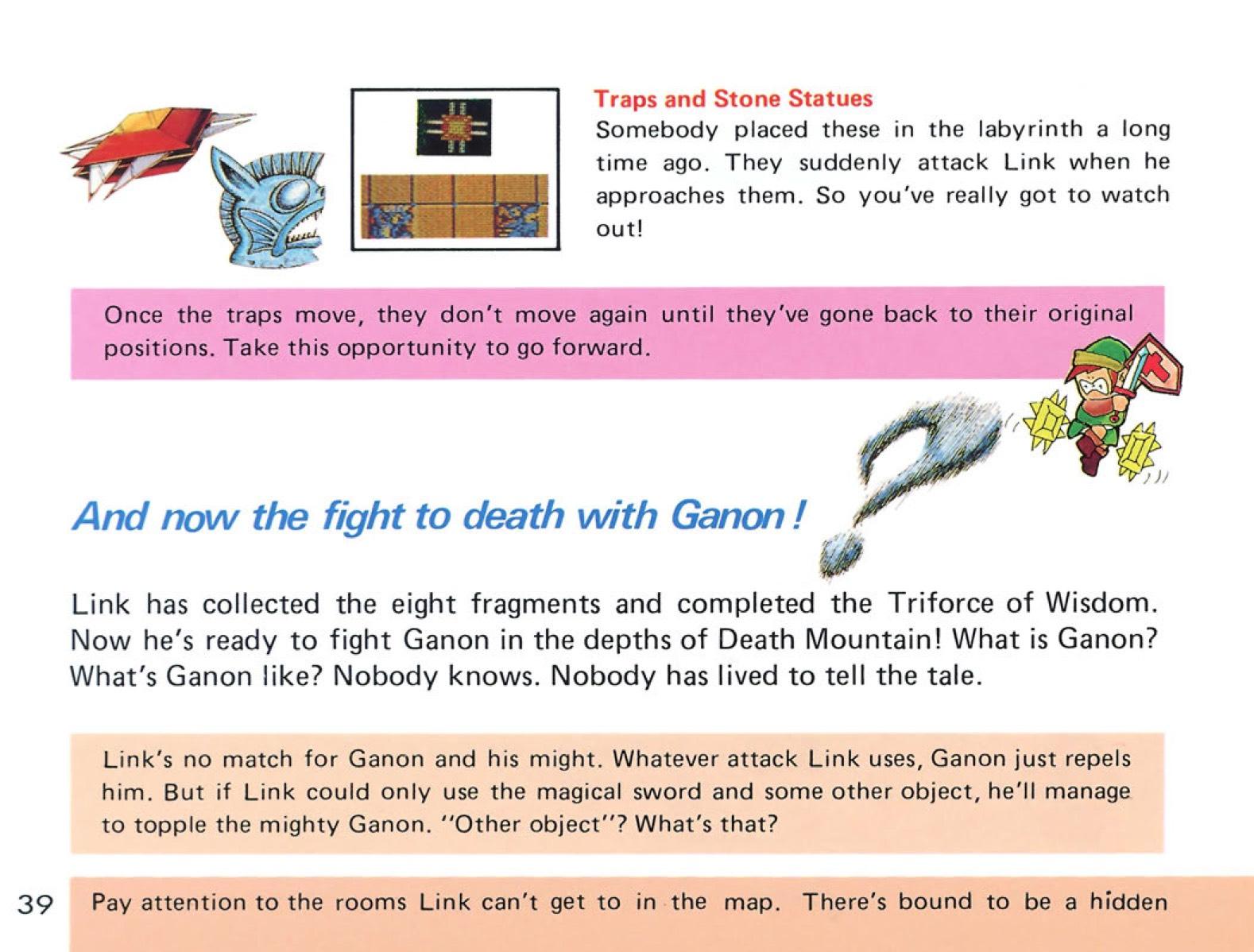 The Legend of Zelda Instruction Booklet - 39