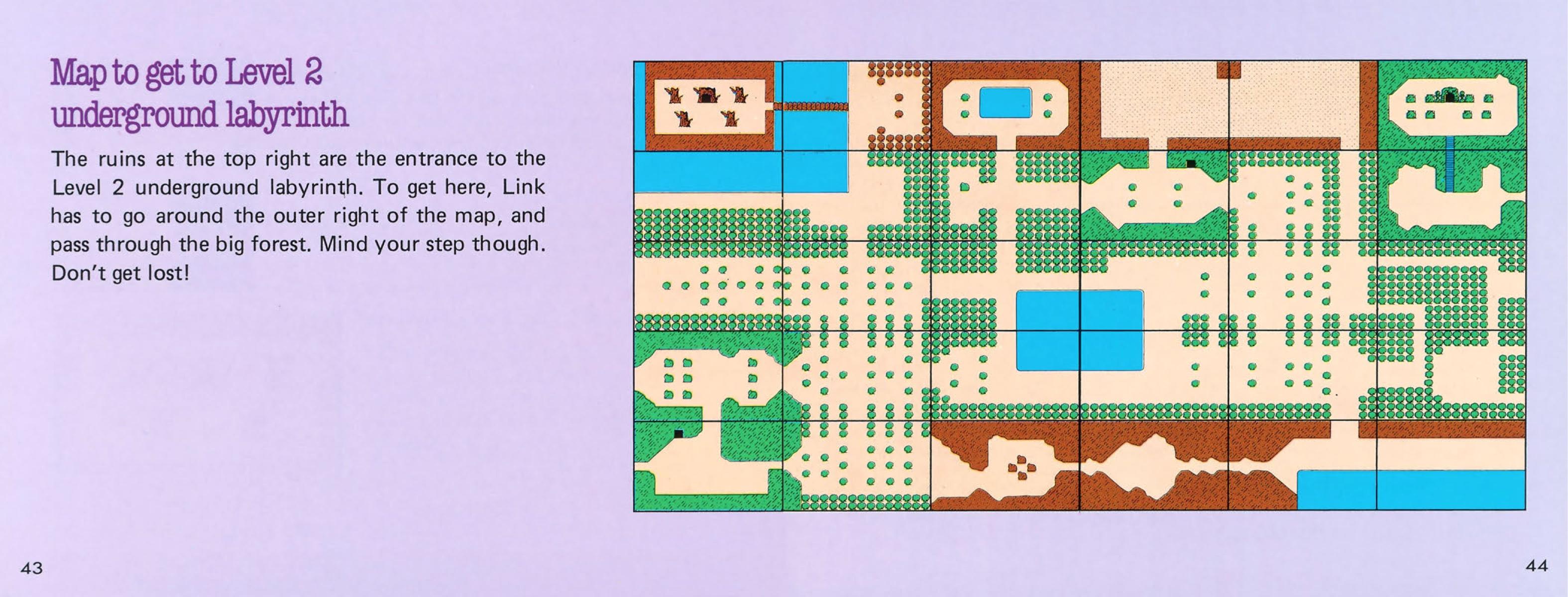 The Legend of Zelda Instruction Booklet - 43-44