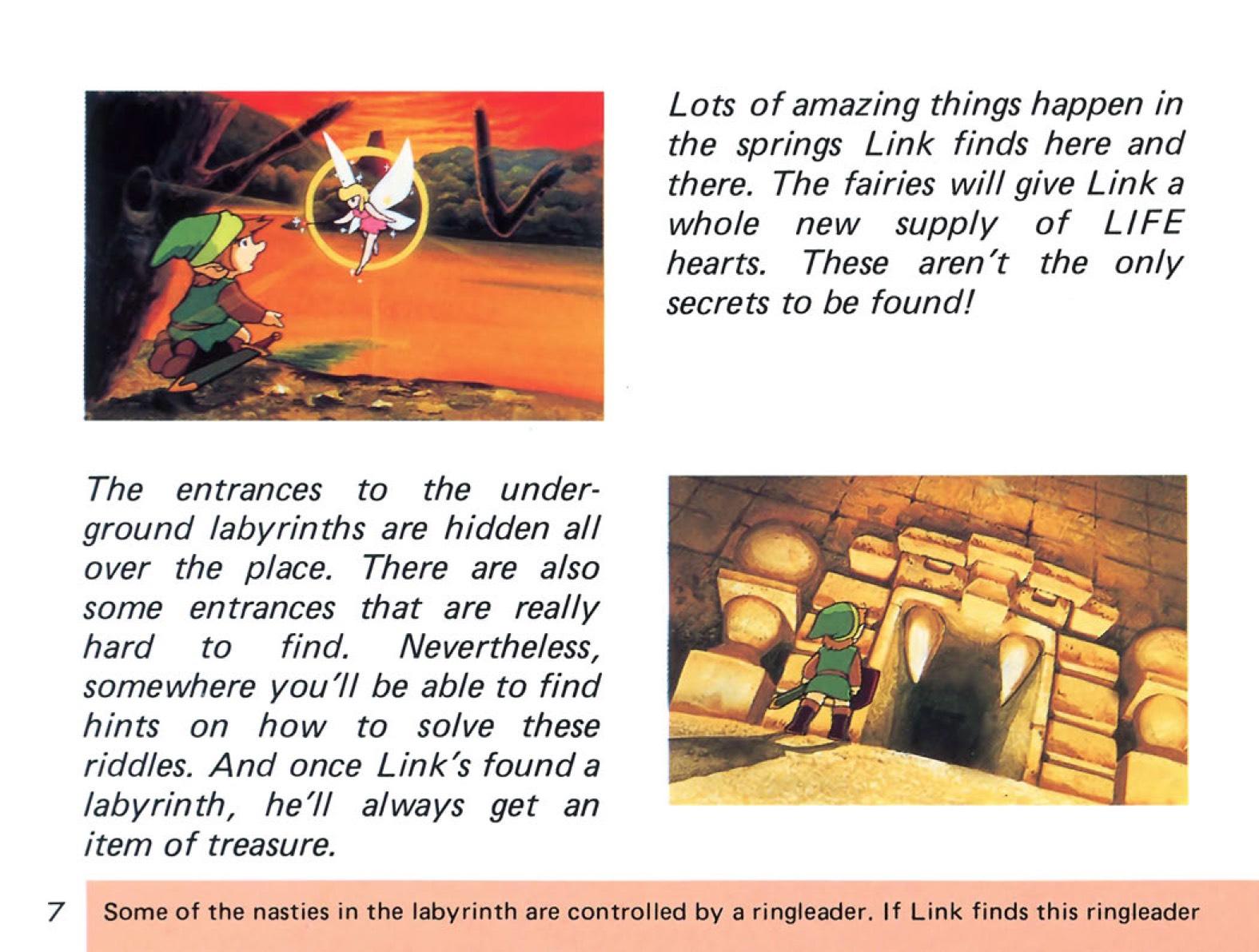 The Legend of Zelda Instruction Booklet - 7