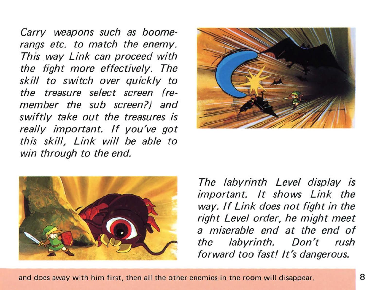 The Legend of Zelda Instruction Booklet - 8