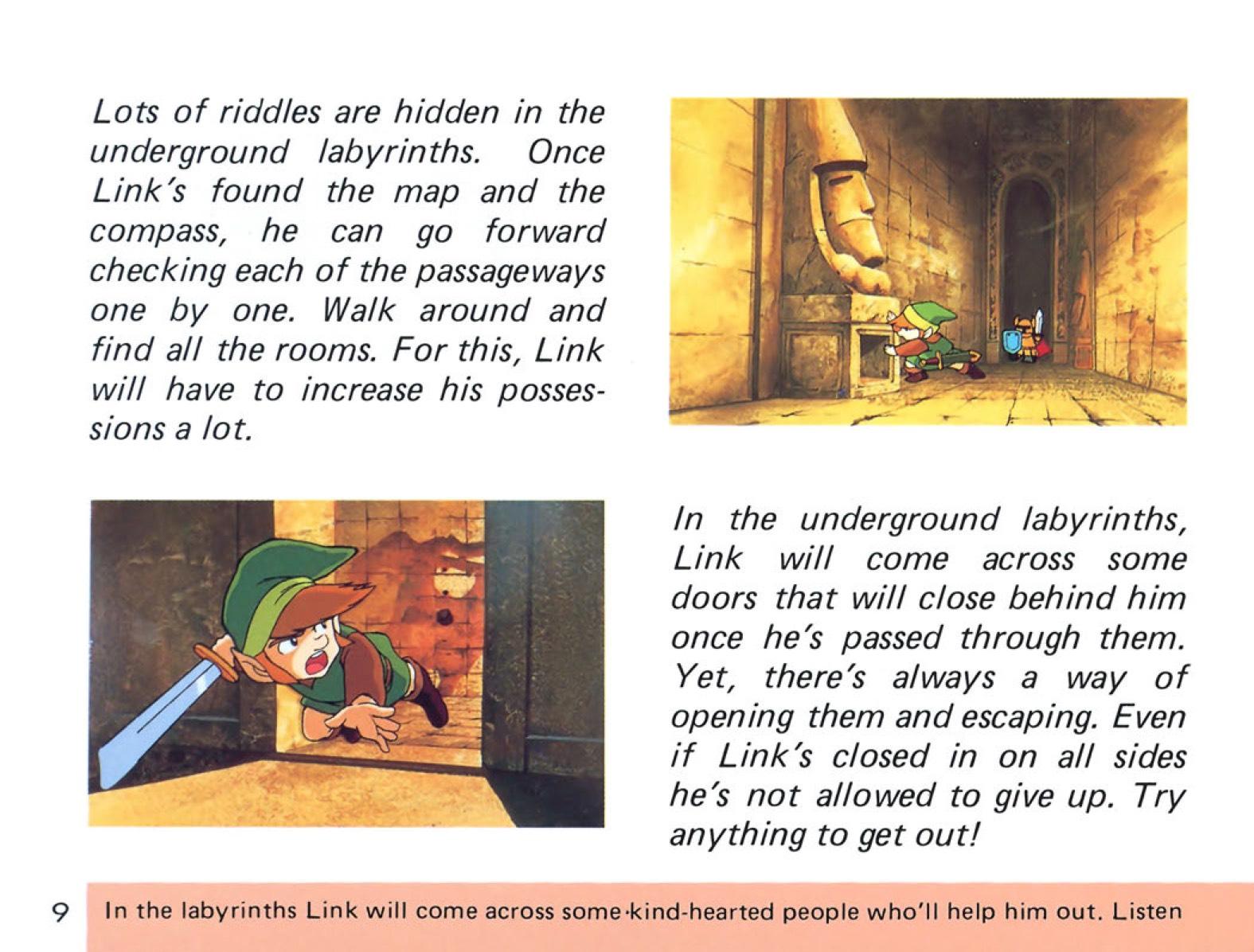 The Legend of Zelda Instruction Booklet - 9