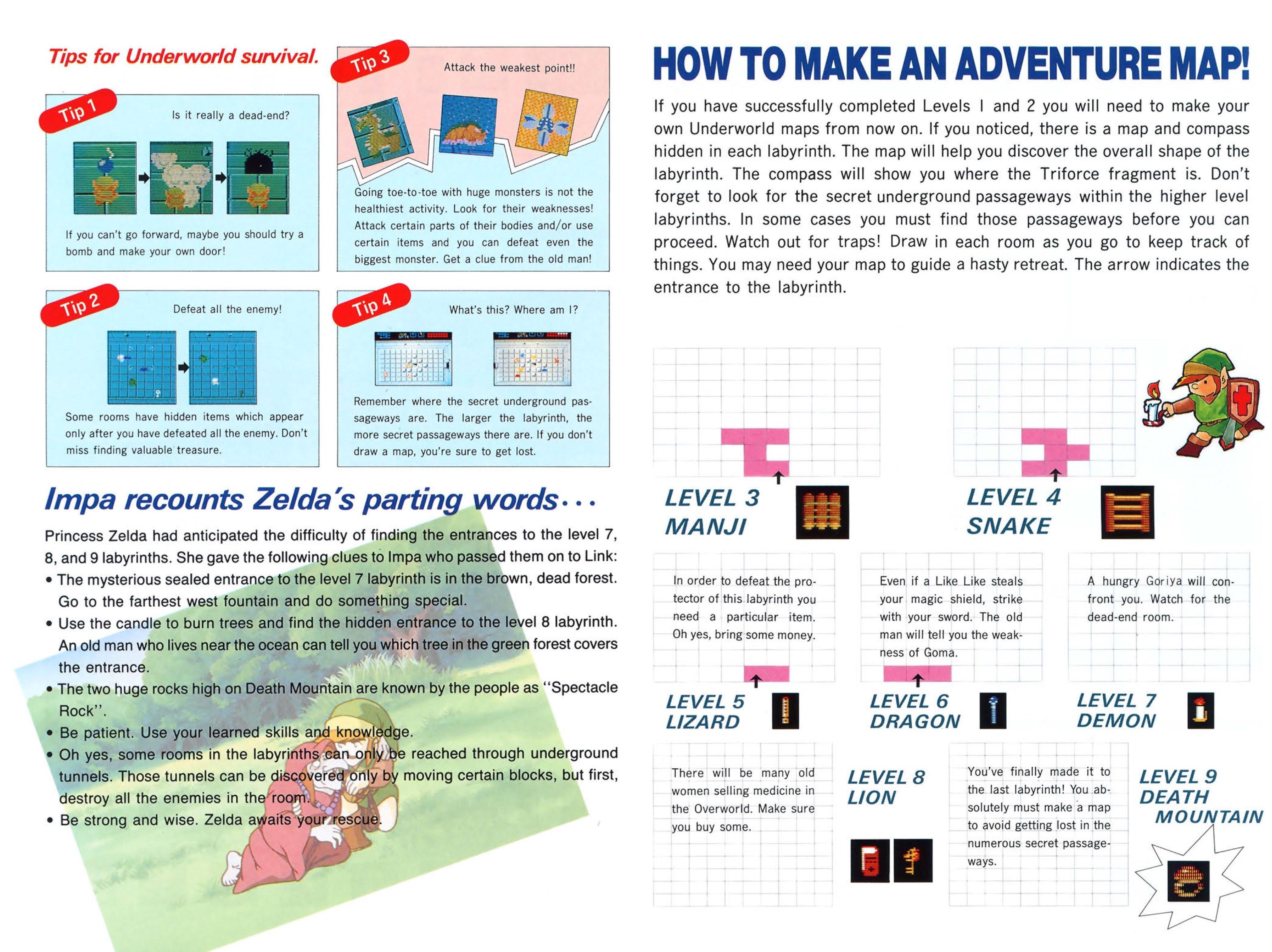 The Legend of Zelda Instruction Booklet - Bonus 1