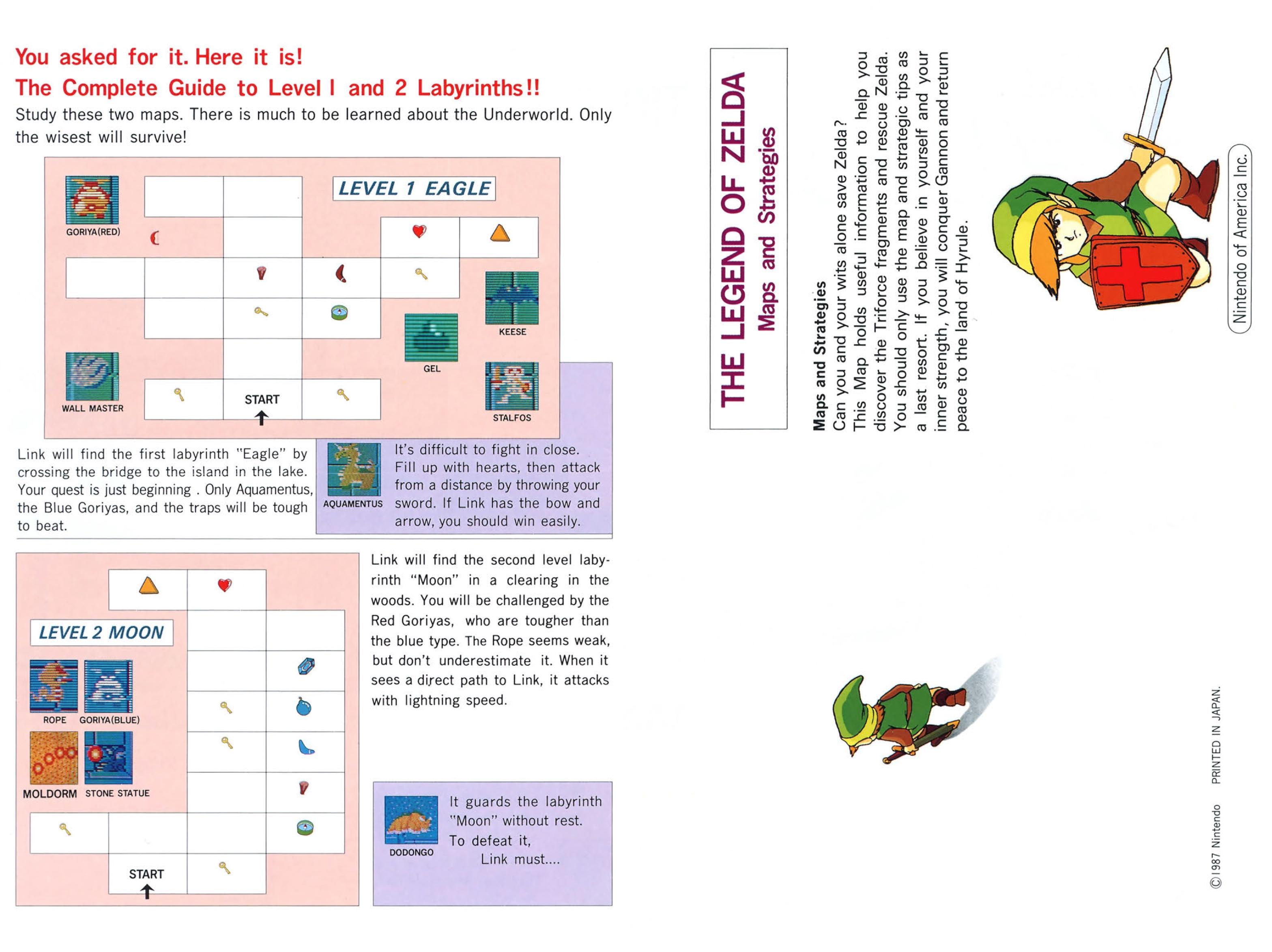 The Legend of Zelda Instruction Booklet - Bonus 2