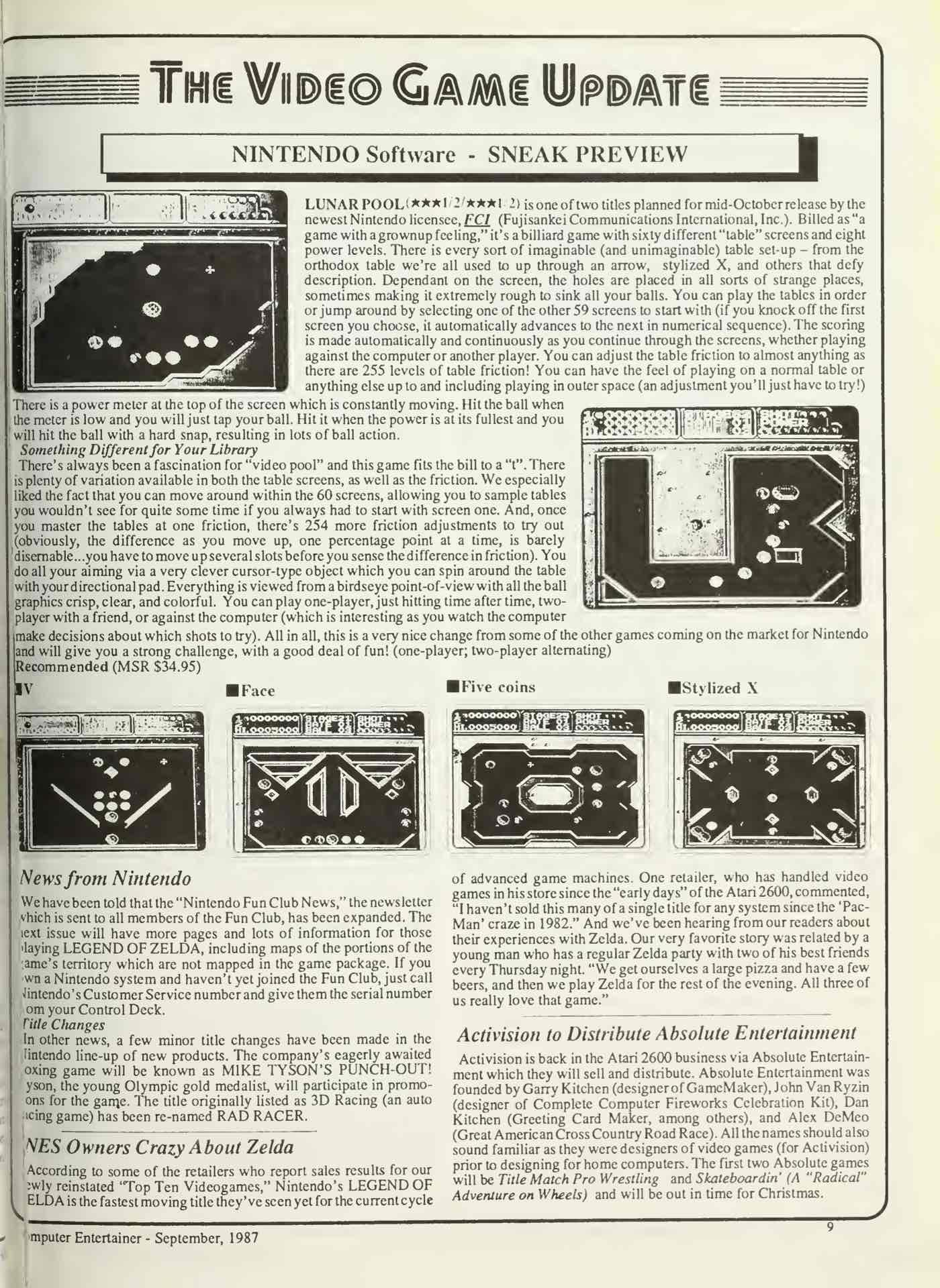 Computer Entertainer - September 1987 - Pg 9
