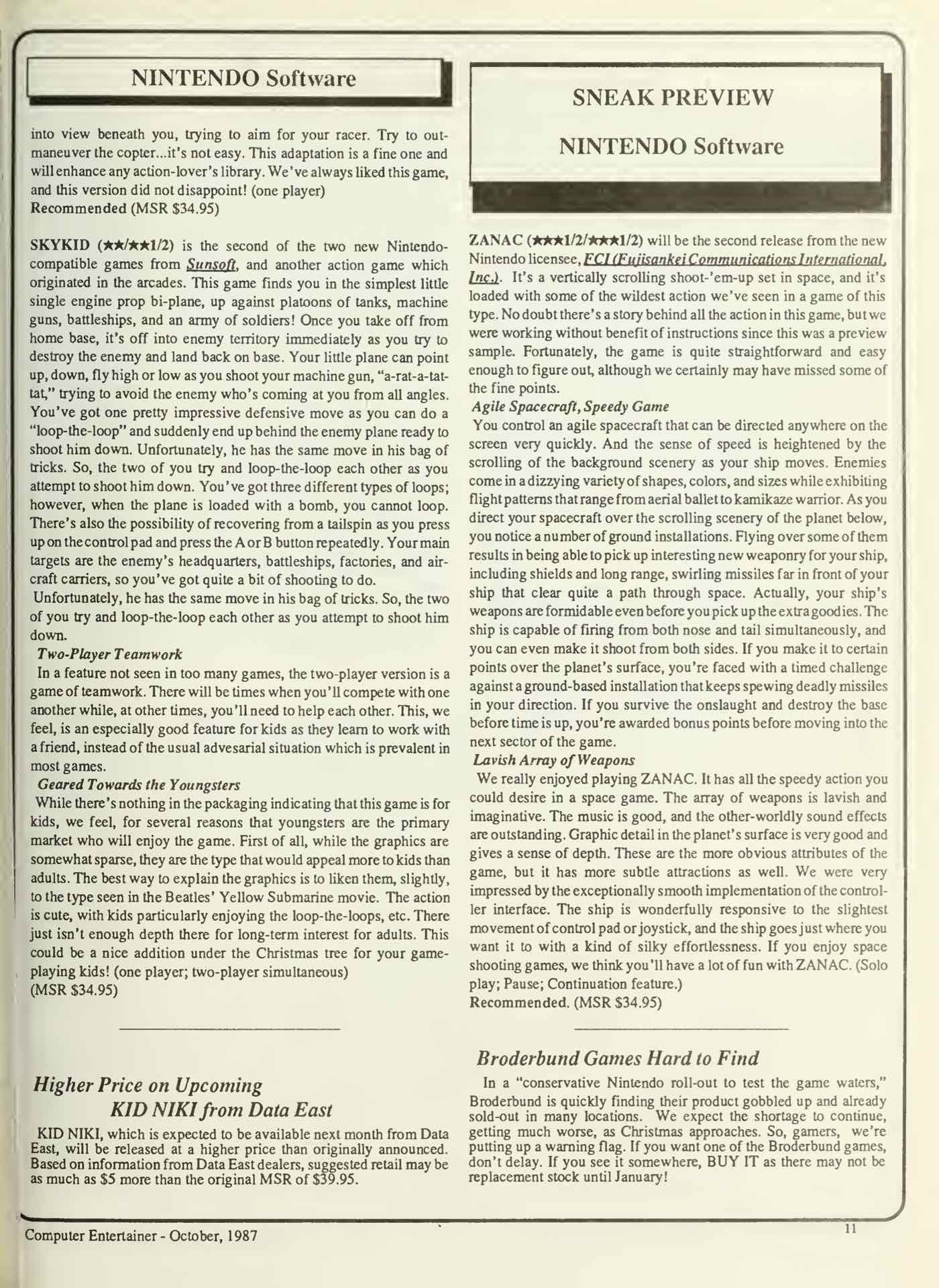 Computer Entertainer - October 1987 - p11