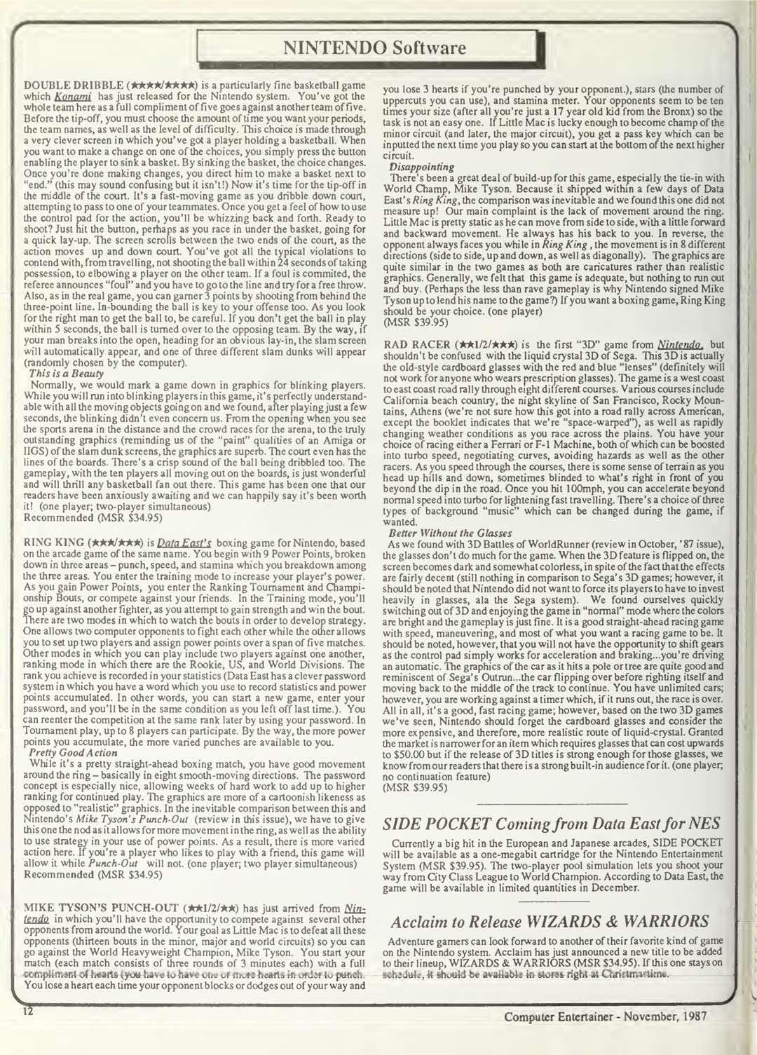 Computer Entertainer - November 1987 - Pg12