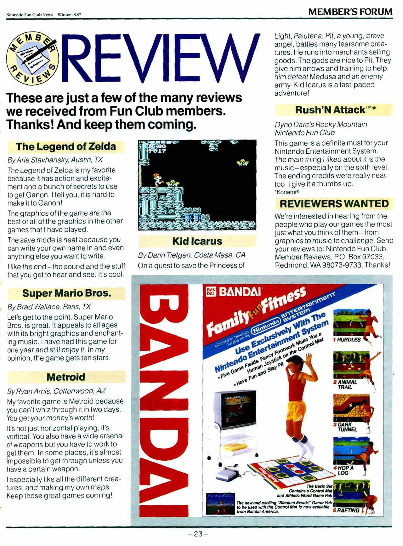 NIntendo Fun Club News | Winter 1987 - 23