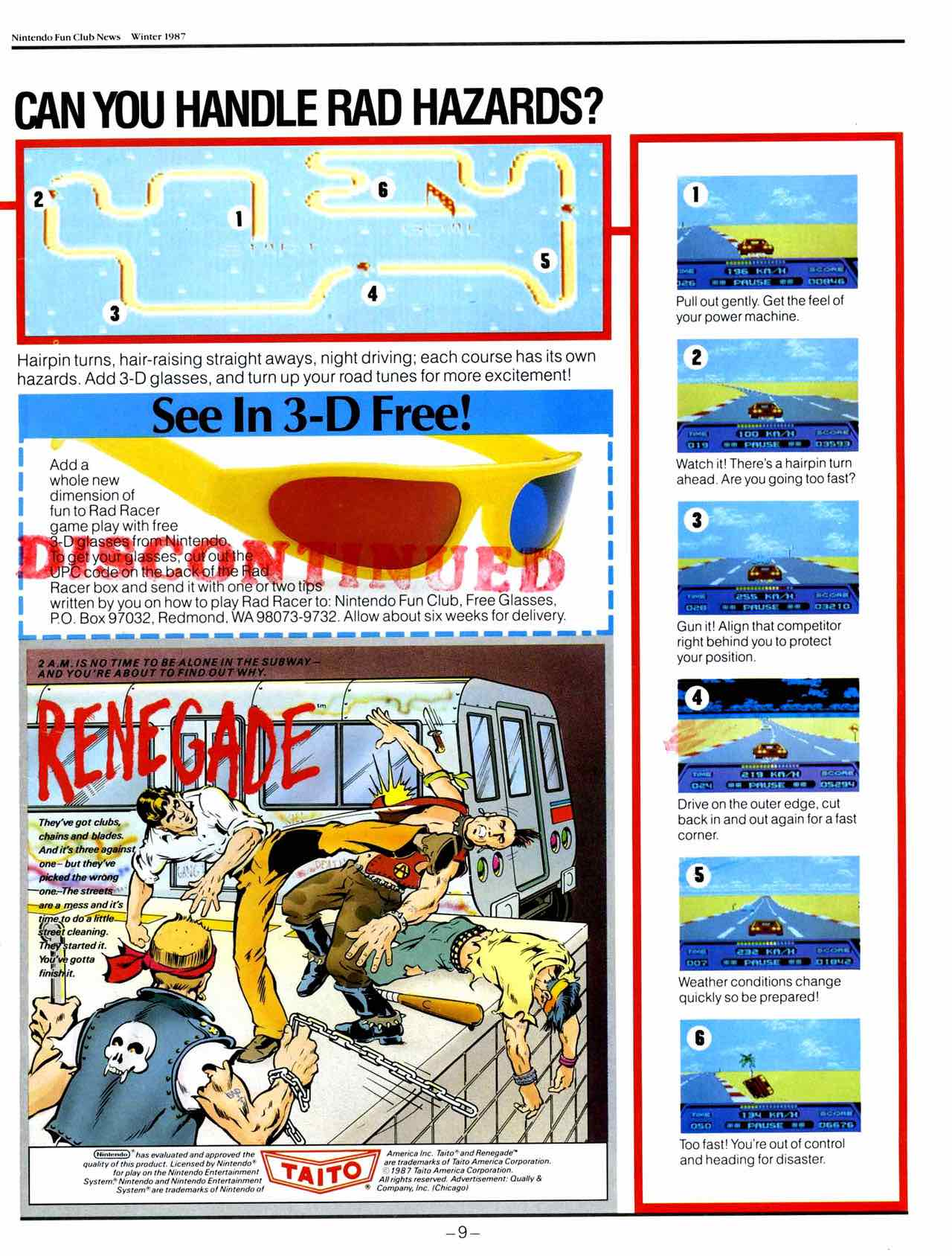 NIntendo Fun Club News | Winter 1987 - 9