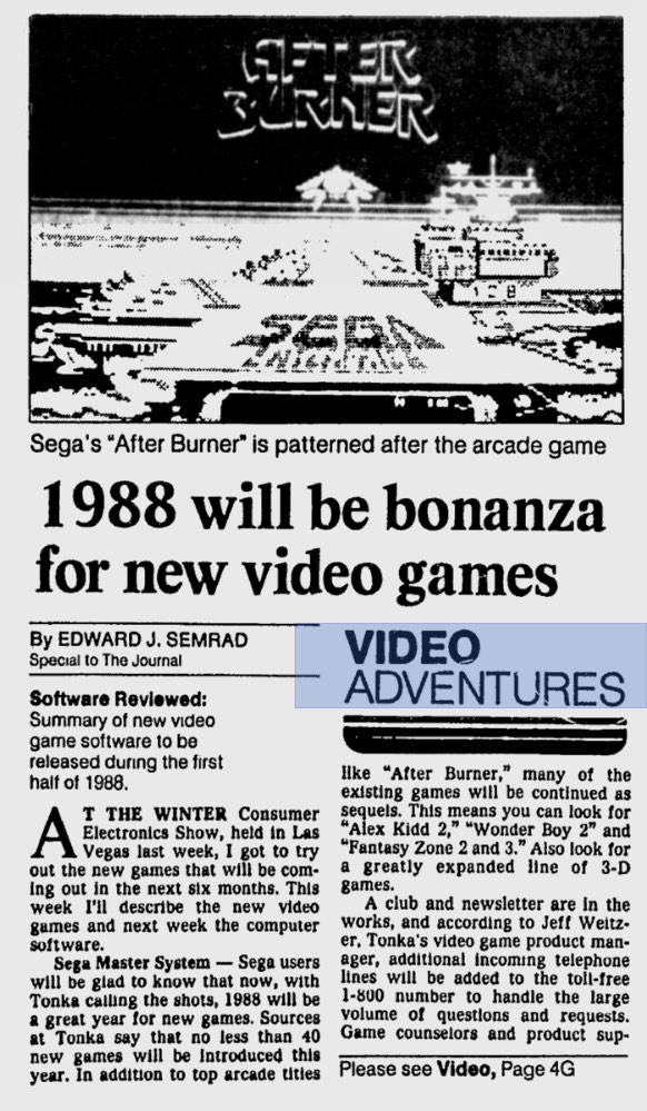1988 Winter CES - Ed Semrad - The Miwaukee Journal - 1-16-88