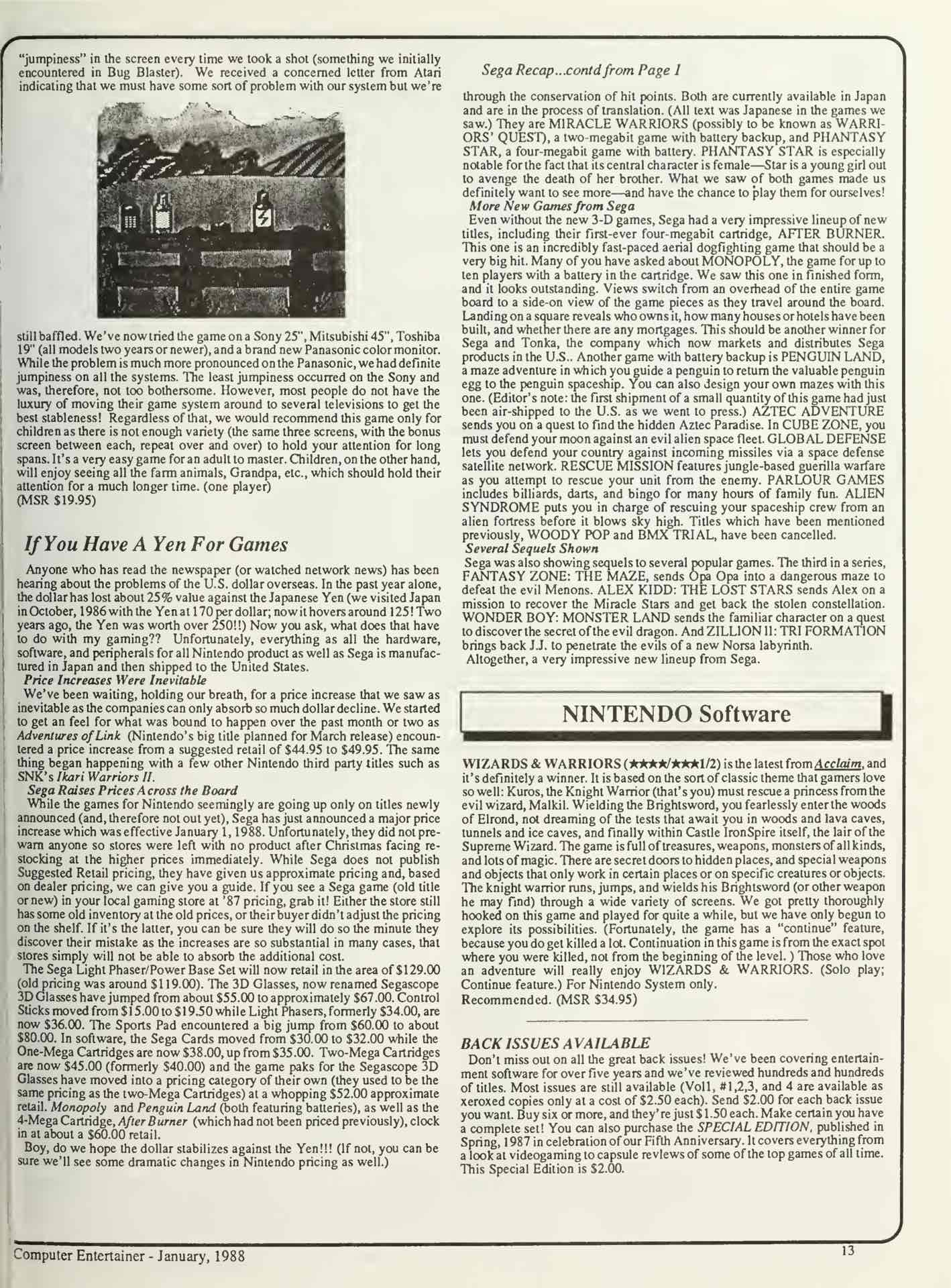 Computer Entertainer - January 1988 - Pg 13