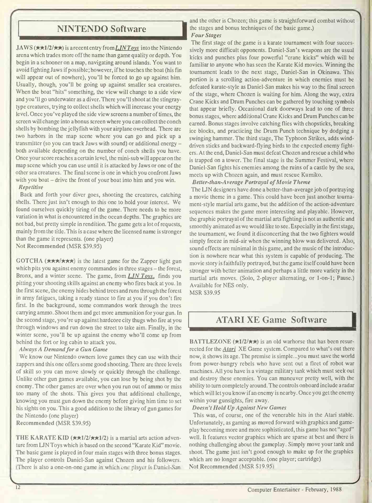 Computer Entertainer - February 1988 - p12