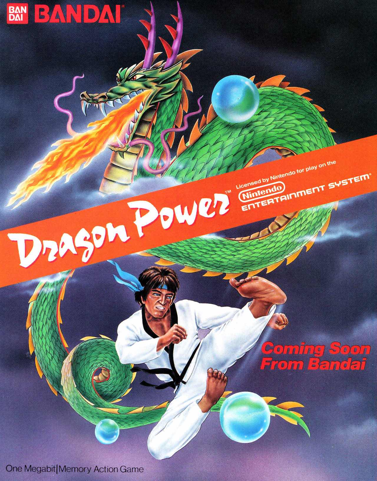 Nintendo Fun Club News   Feb-Mar 1988 Dragon Power Ad