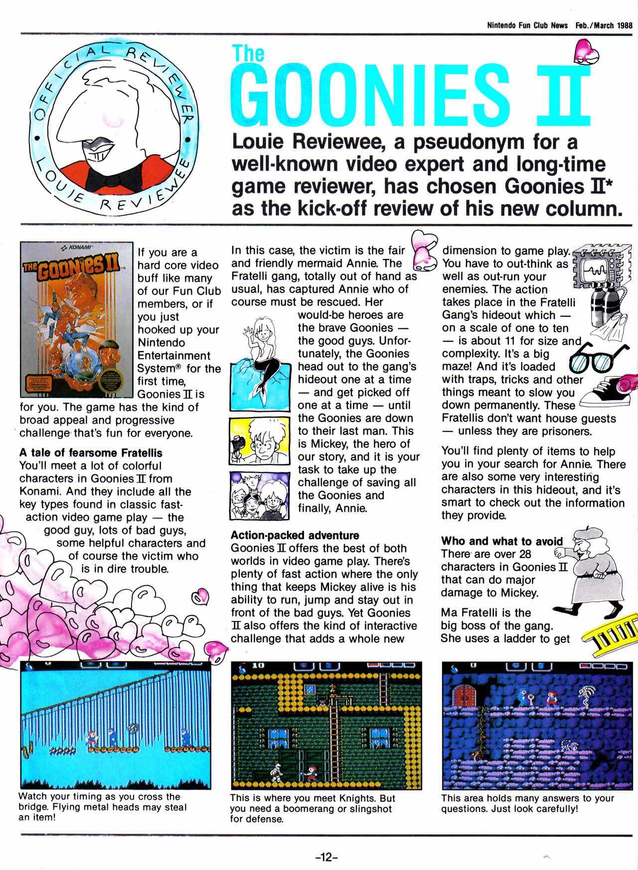 Nintendo Fun Club News | Feb-Mar 1988 Goonies-II-1