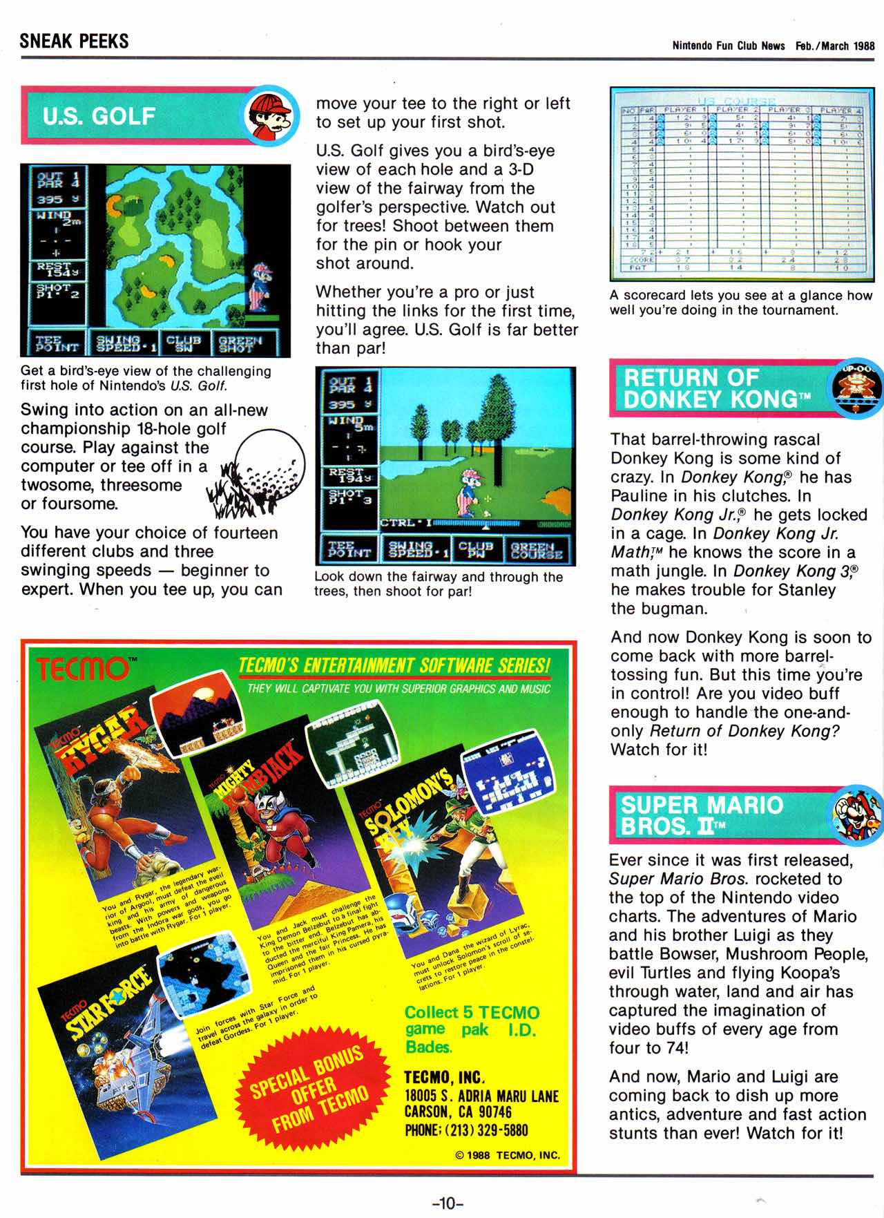 Nintendo Fun Club News   Feb-Mar 1988 P10