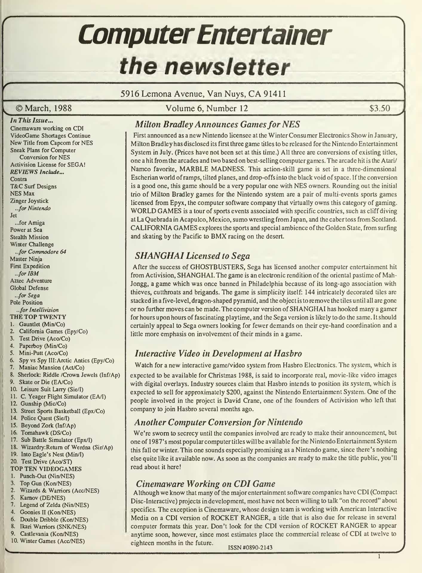 Computer Entertainer 1988 pg 1