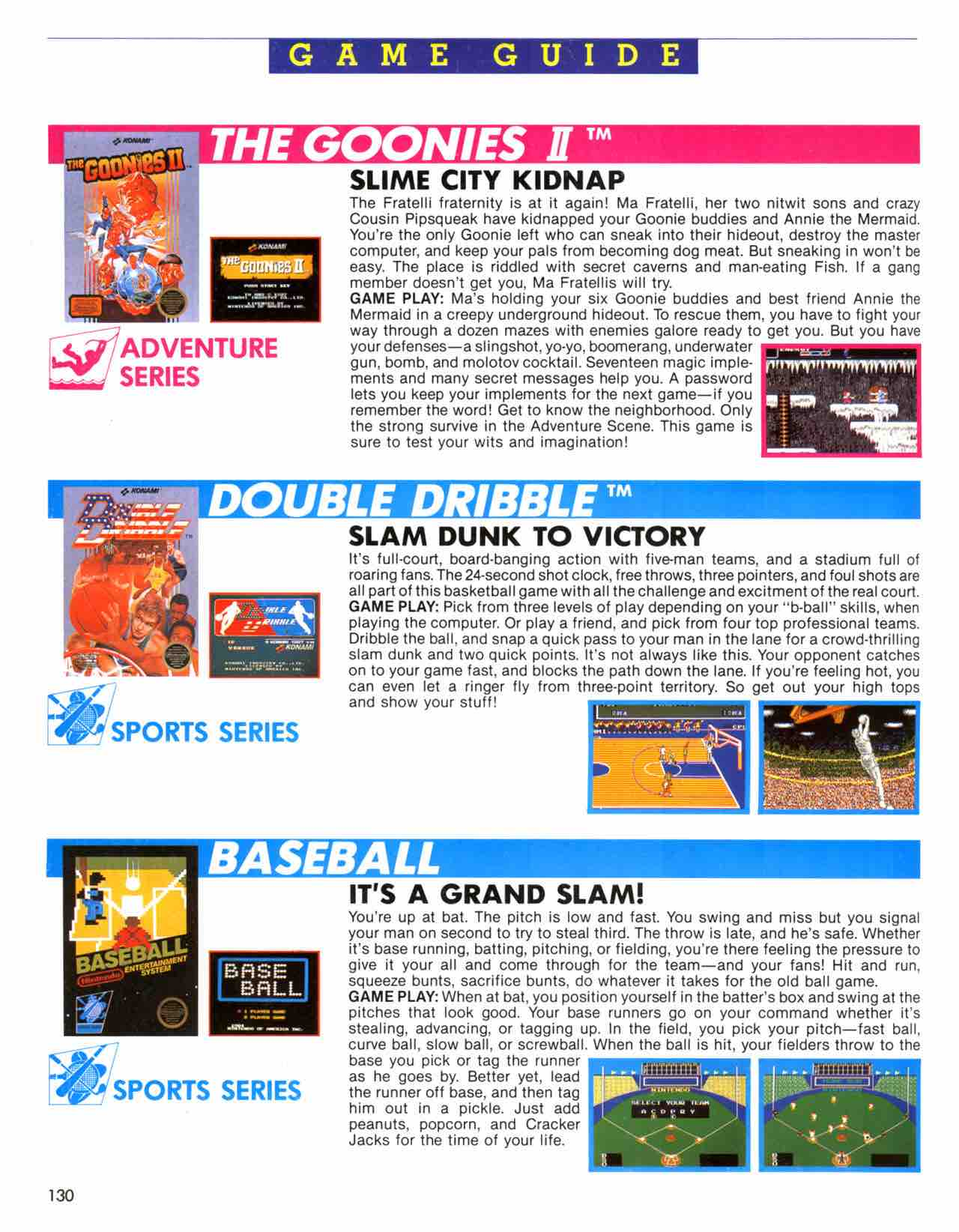 Official Nintendo Player's Guide Pg 130