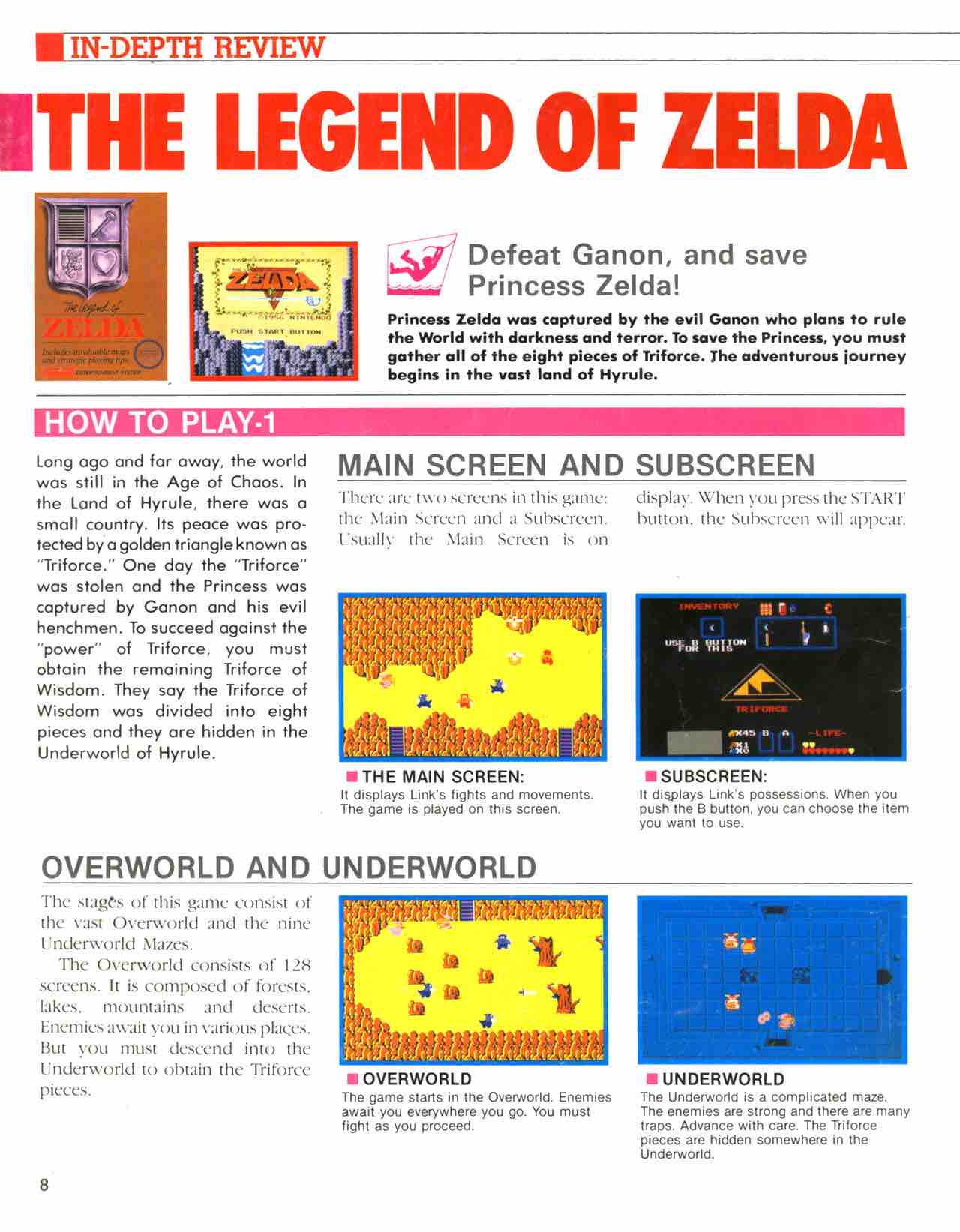 Official Nintendo Player's Guide Pg 8