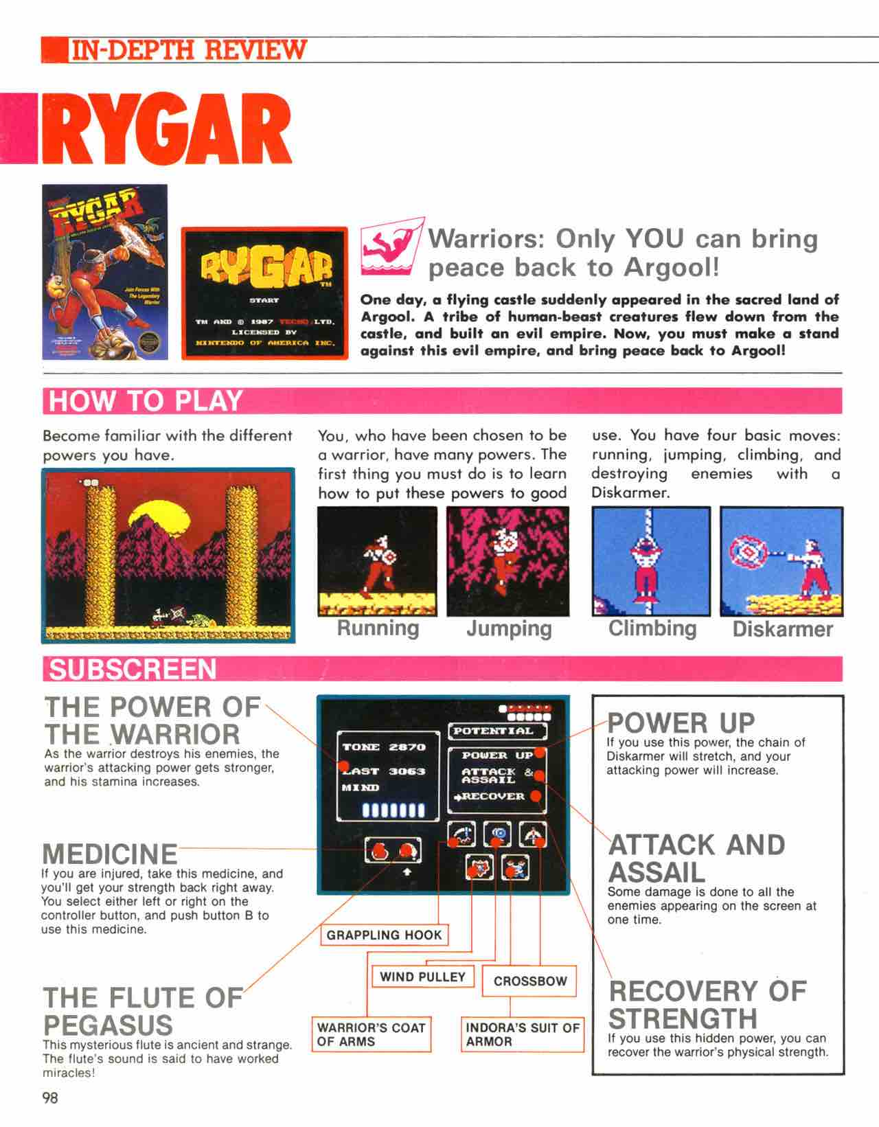 Official Nintendo Player's Guide Pg 98