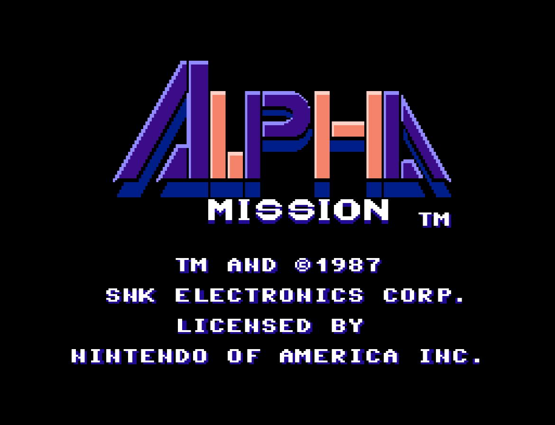Alpha Mission (Home) 01