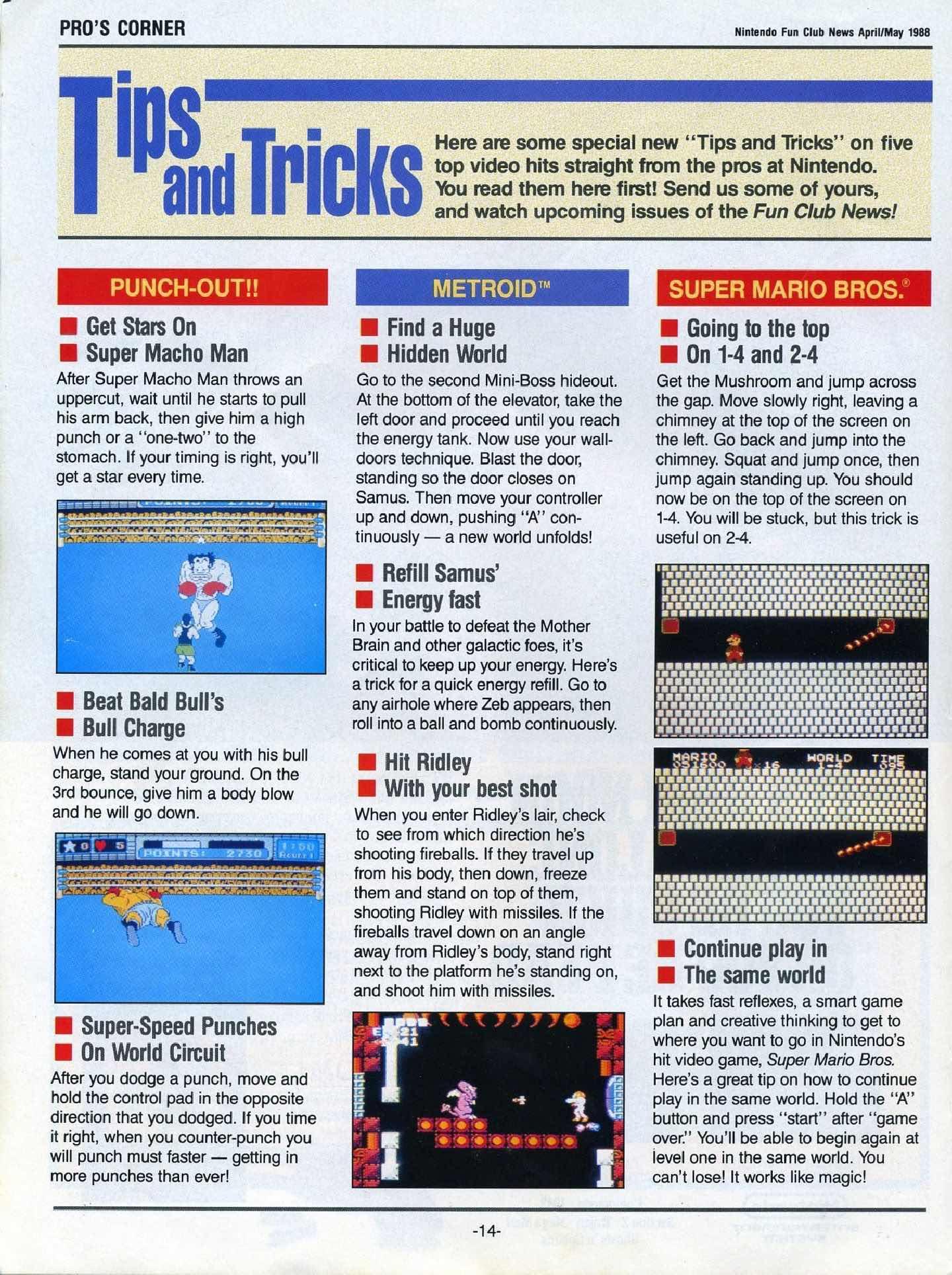 Nintendo Fun Club News April-May 1988 pg14