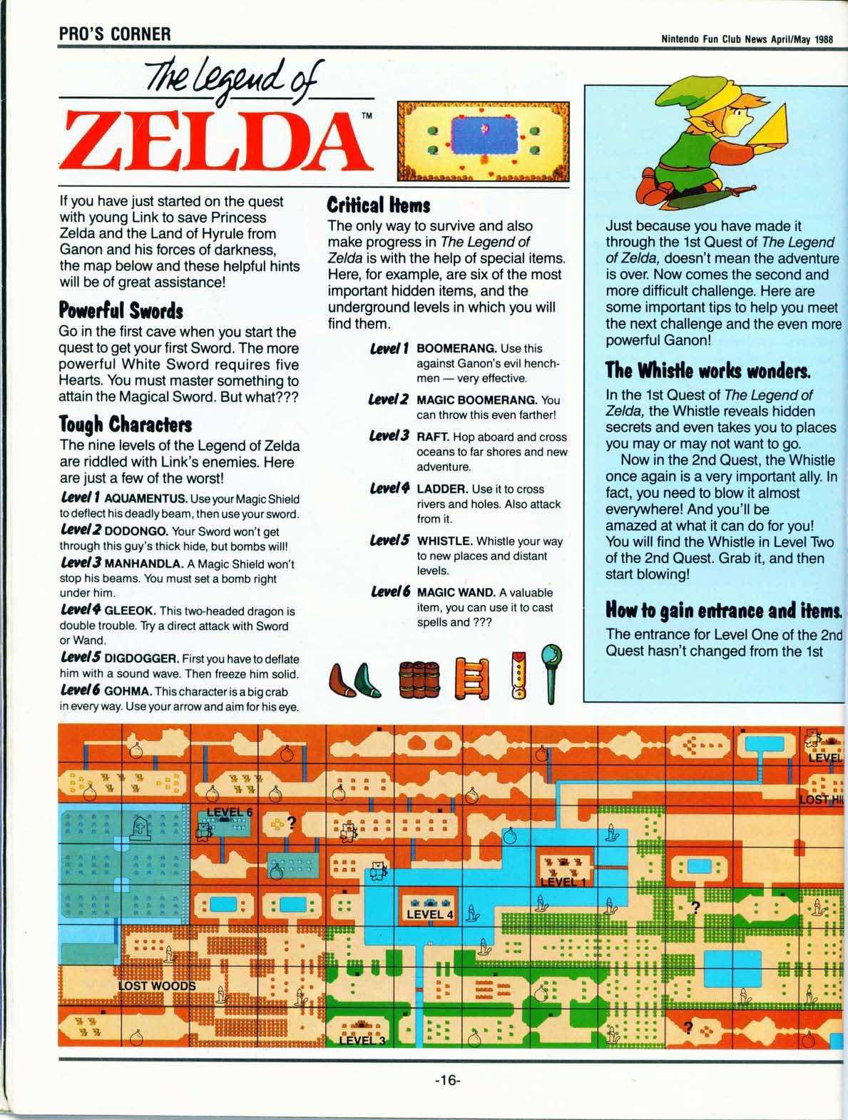 Nintendo Fun Club News April-May 1988 pg16