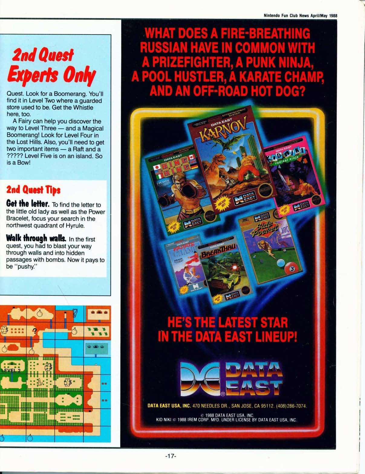 Nintendo Fun Club News April-May 1988 pg17