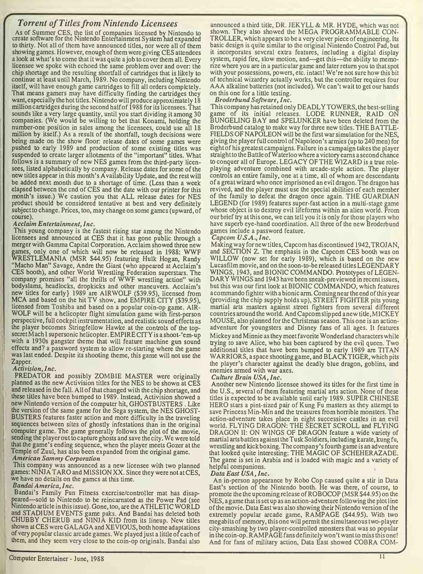 Computer Entertainer - June 1988 - pg 11