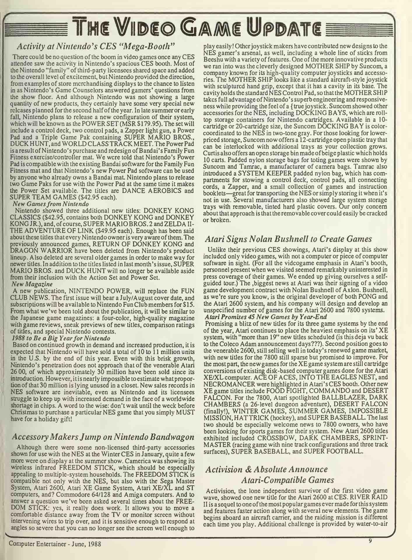 Computer Entertainer - June 1988 - pg 9