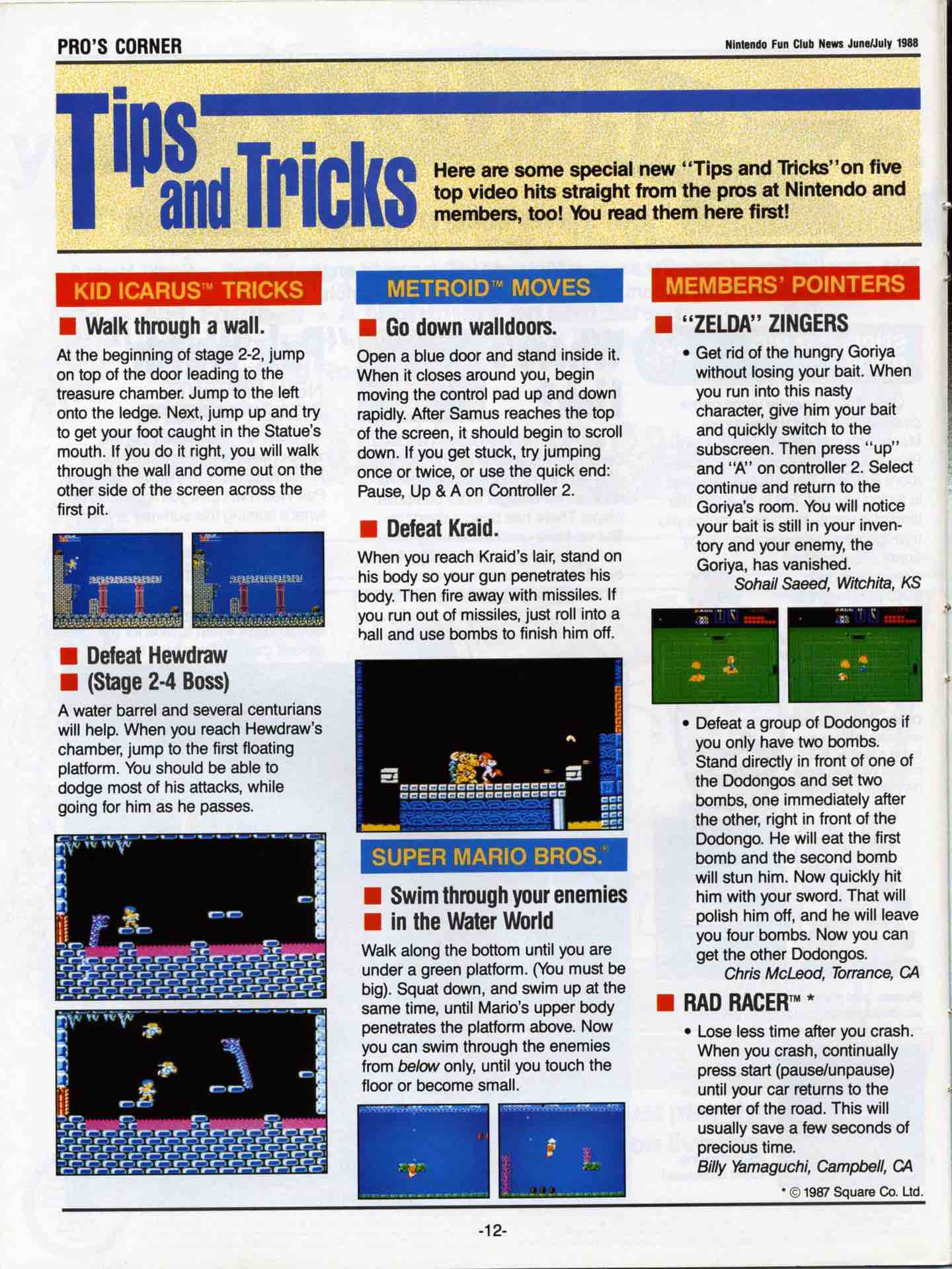 Nintendo Fun Club News | June-July 1988 pg 12