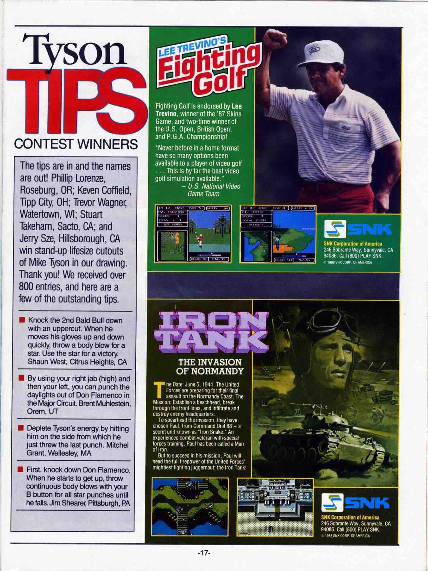 Nintendo Fun Club News   June-July 1988 pg 17