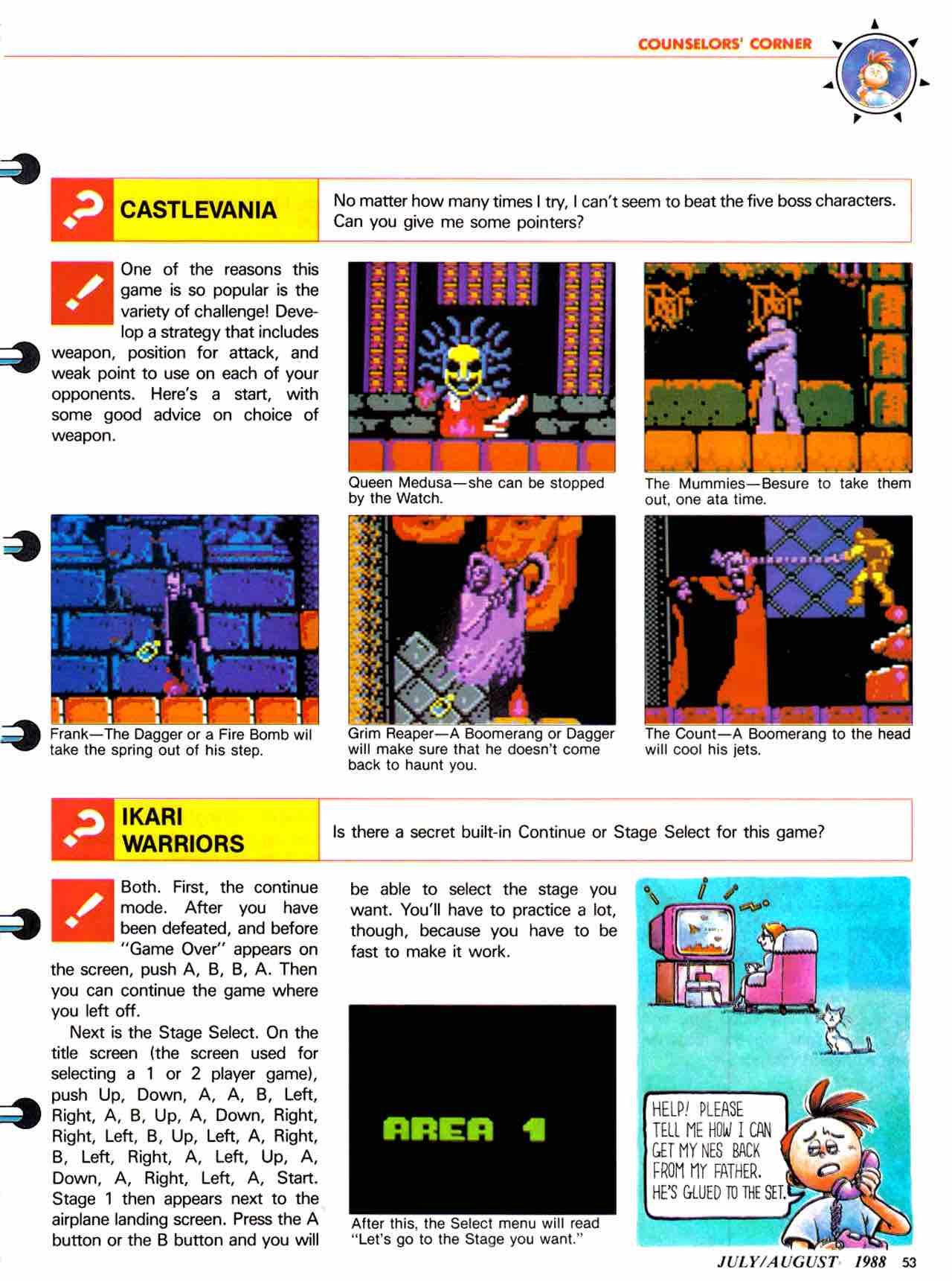 Nintendo Power   July August 1988 - pg 53