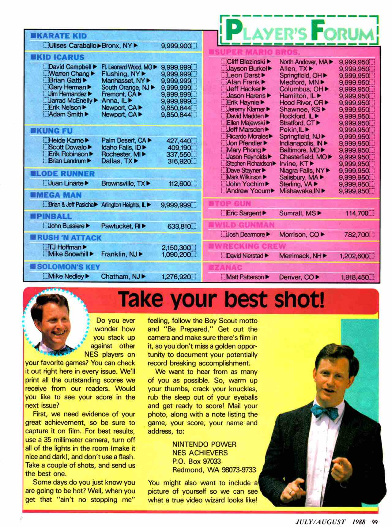 Nintendo Power | July August 1988 - pg 99