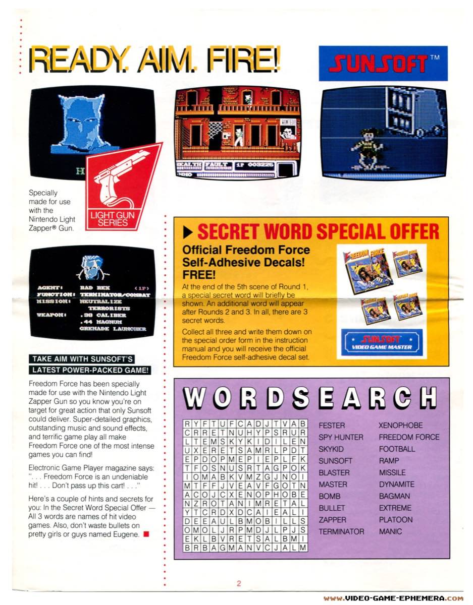 Sunsoft Game Time News | Summer 1988 - Pg 2