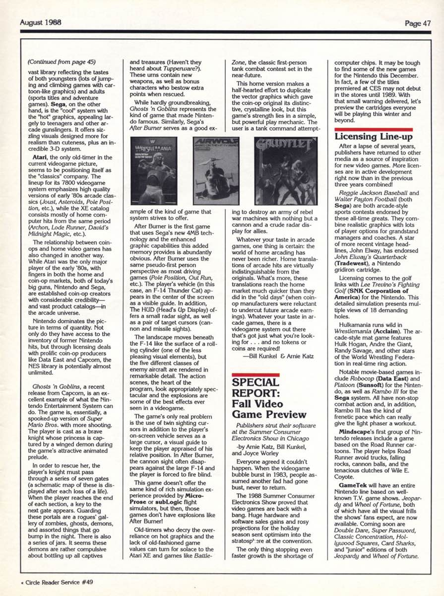 Computer Gaming World | August 1988 pg47
